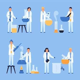 Wetenschappers werken pack