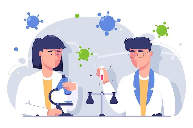 Wetenschappers werken