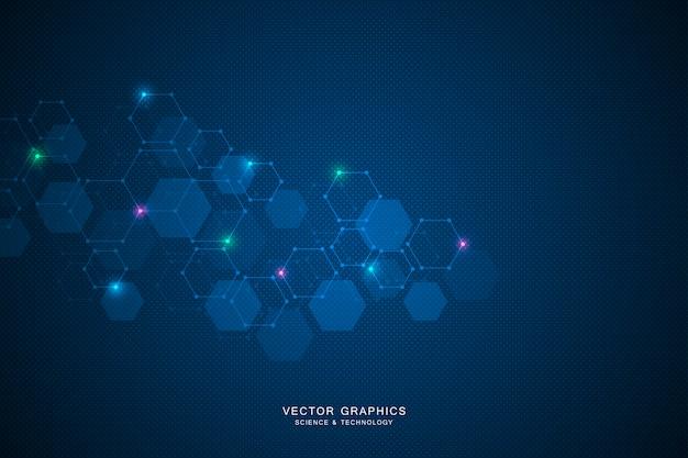 Wetenschapsachtergrond met zeshoeken