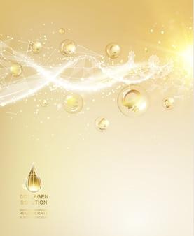 Wetenschapsillustratie van kosmetische molecule