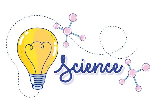 Wetenschapsstructuur molecuul atoom oplossing onderzoekslaboratorium