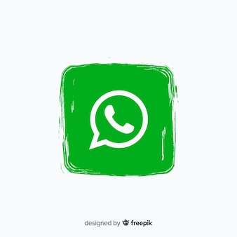 Whatsapp-pictogram in verfstijl