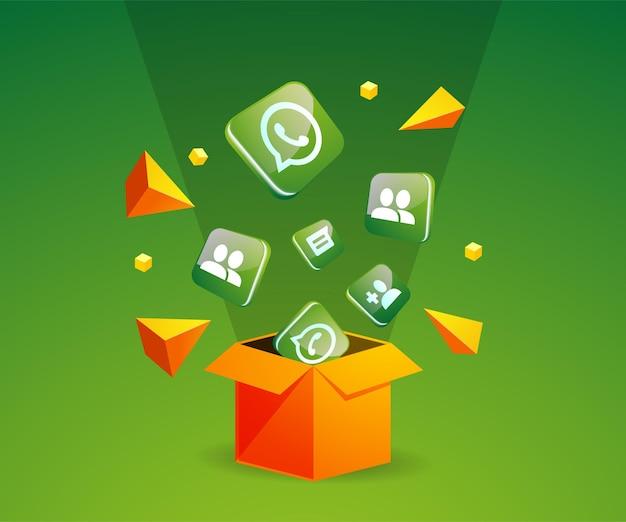 Whatsapp-pictogram uit de doos