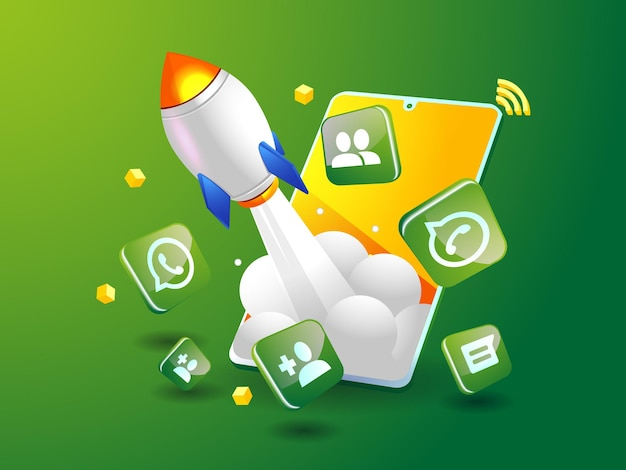 Whatsapp-raket stimuleert sociale media met smartphone