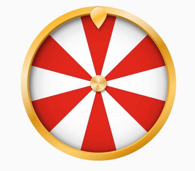 Wheel of fortune loterij geluk illustratie