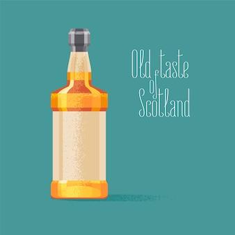 Whisky fles vectorillustratie