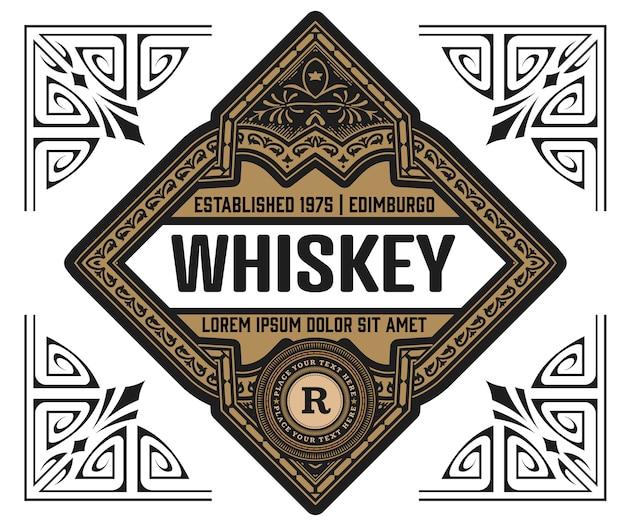 Whisky label vintage retro