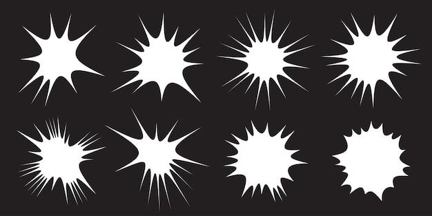 White burst-set star-collectie splash-ontwerpelementen blast-objecten verkoopbanners pony-set