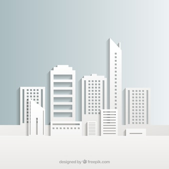 White stadsgebouwen