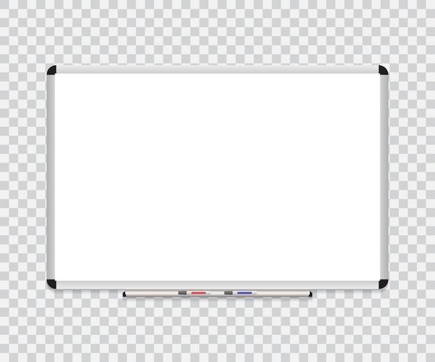 Whiteboard achtergrondframe met gum whiteboard