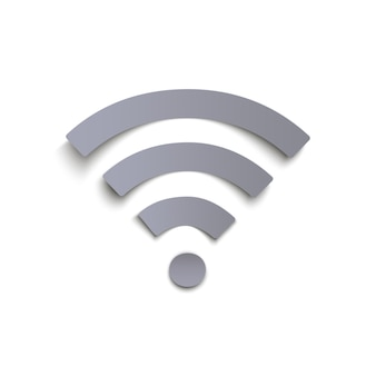 Wi-fi-pictogram op witte achtergrond.