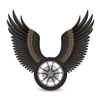 Wiel en vleugels