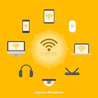 Wifi en technologie backgroud