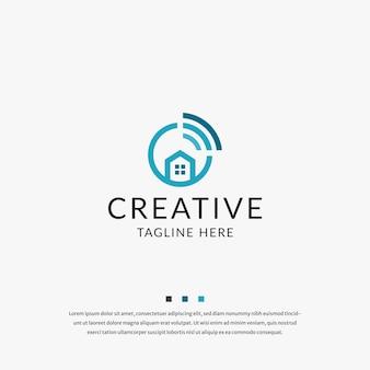 Wifi huis logo pictogram ontwerp sjabloon vector