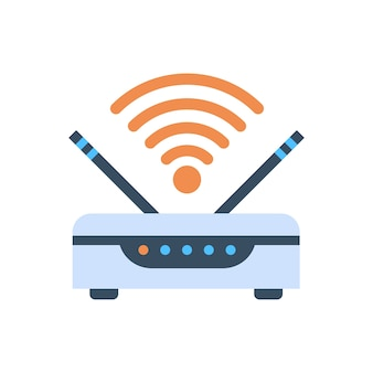 Wifi router pictogram voor draadloze internetverbinding