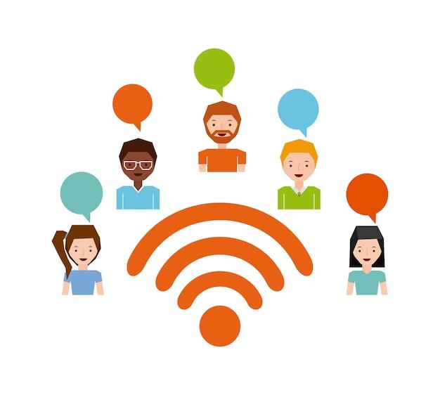 Wifi-verbinding ontwerp, vector illustratie eps10 afbeelding