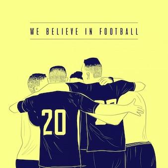 Wij geloven in voetbalillustratie
