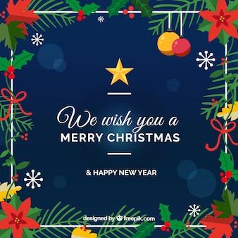 Wij wensen u een vrolijke kerstmis achtergrond