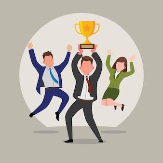 Wij zijn de kampioen zakelijke winnaar