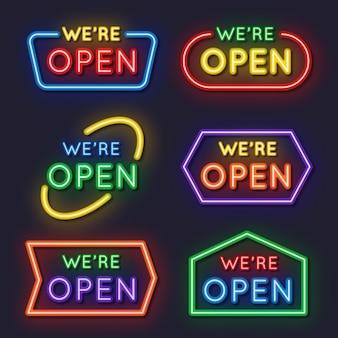 Wij zijn open neon sign pack