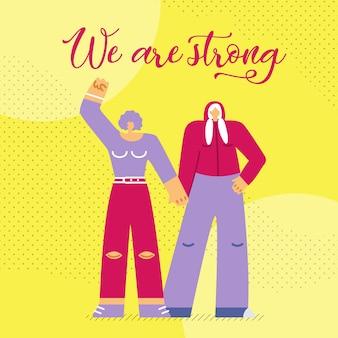 Wij zijn strong flat web banner template