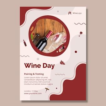 Wijn dag poster sjabloon