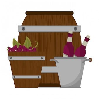 Wijn en gastronomie concept