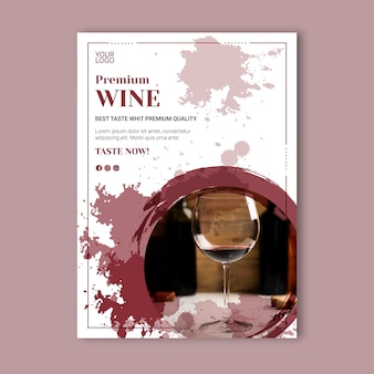 Wijn evenement poster sjabloon