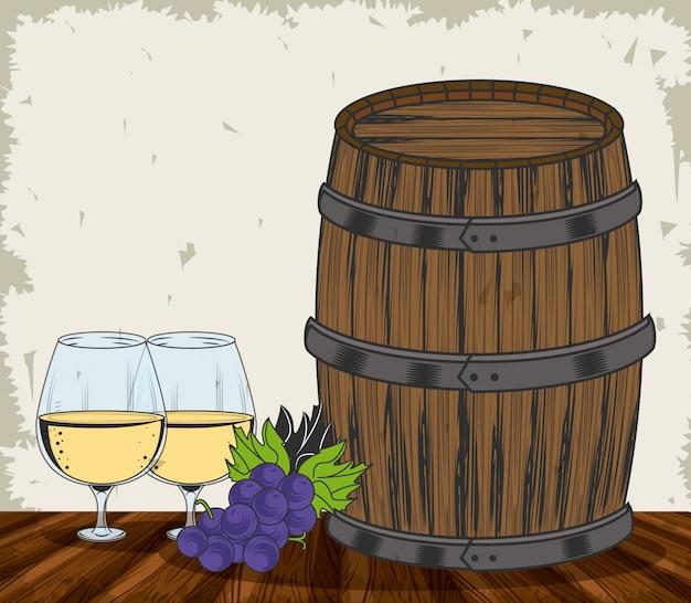 Wijn grunge ontwerp