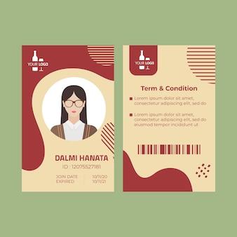 Wijn id-kaartsjabloon
