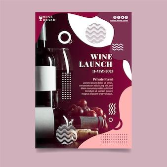 Wijn lancering poster sjabloon