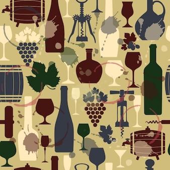 Wijn naadloze vintage achtergrond