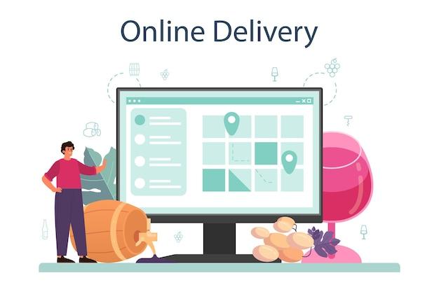 Wijn online service of platform