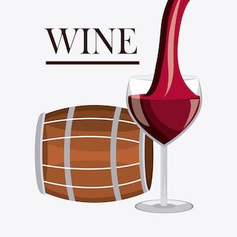 Wijn ontwerp.