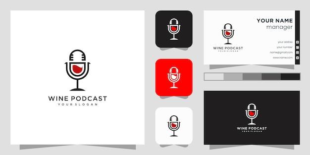 Wijn podcast logo ontwerp