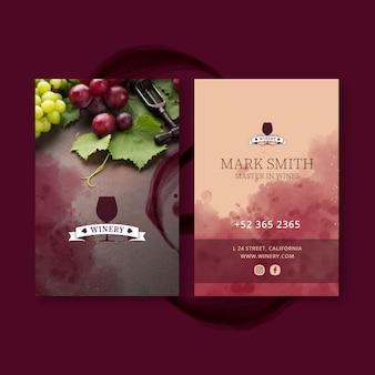 Wijn visitekaartje sjabloon