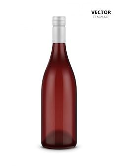 Wijnfles op wit wordt geïsoleerd dat
