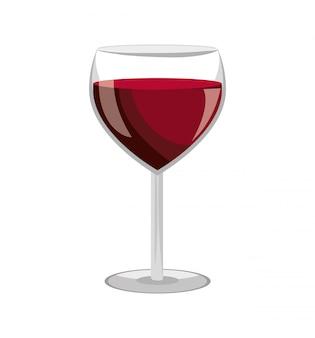 Wijnglas labelontwerp geïsoleerd