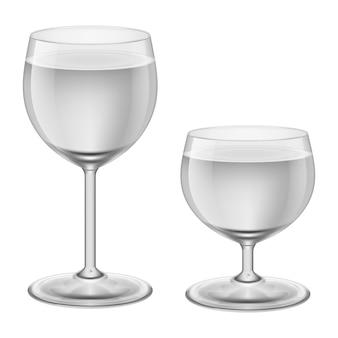 Wijnglazen op wit