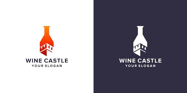 Wijnkasteel logo sjabloon