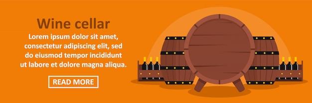 Wijnkelder banner sjabloon horizontaal concept