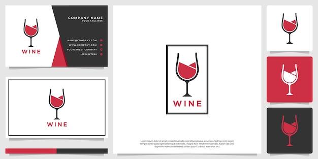 Wijnlogo met een strakke, moderne en stijlvolle stijl