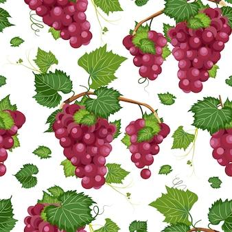 Wijnstok naadloos patroon en bladeren