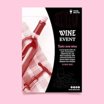 Wijnwinkel advertentie poster sjabloon