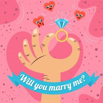 Wil je met me trouwen als achtergrond