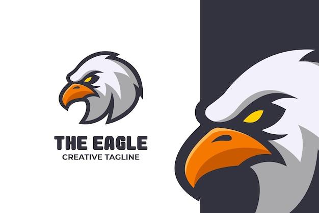 Wild angry panda e-sport mascot logo