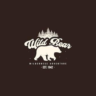 Wild beer logo. outdoor kamp logo