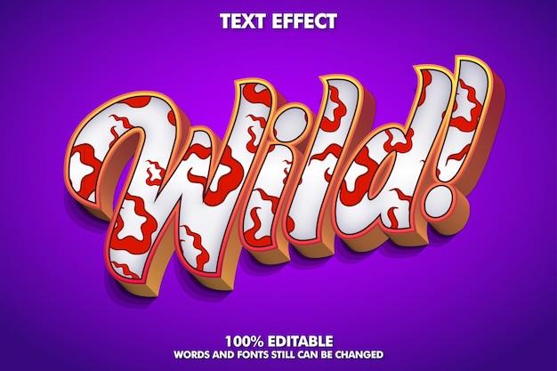 Wild bewerkbaar teksteffect