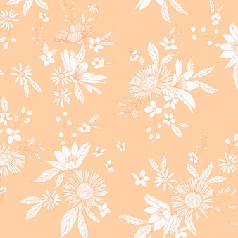 Wild bloemen bospatroon