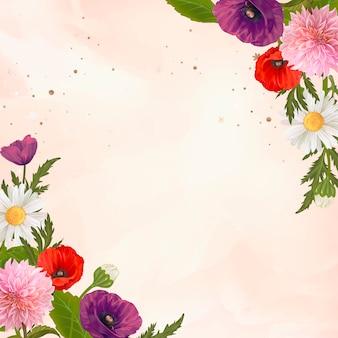Wild bloemkader